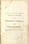 Annual Report of the Attorney General to the Legislature of Minnesota [1863]