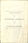 Annual Report of the Attorney General to the Legislature of Minnesota [1864] by Minnesota Attorney General