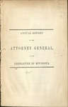 Annual Report of the Attorney General to the Legislature of Minnesota [1865] by Minnesota Attorney General