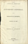 Annual Report of the Attorney General to the Legislature of Minnesota [1867]