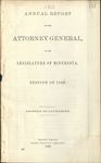 Annual Report of the Attorney General to the Legislature of Minnesota [1868]