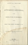 Annual Report of the Attorney General to the Legislature of Minnesota [1869]