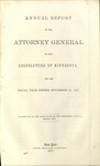 Annual Report of the Attorney General to the Legislature of Minnesota [1870]