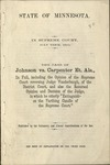 The Case of Johnson v. Carpenter et als. by Minnesota Supreme Court