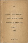 Minnesota Election Case by United States Congress and House of Representatives