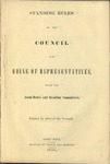 Standing Rules of the Council and House of Representatives by Minnesota Territory Legislative Assembly